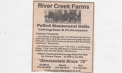 River Creek Farms Private Treaty newspaper clipping