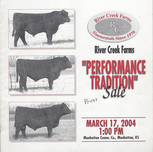 River Creek Farms 'Performance Tradition' Sale