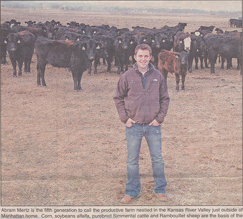 Abram elected President of the American Junior Simmental Association